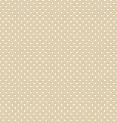 Brown Polka Dot Seamless Pattern Background vector image