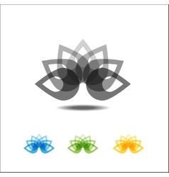 Four lotus icons vector image vector image