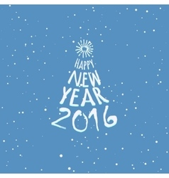 Happy New Year blue greeting card template vector image vector image