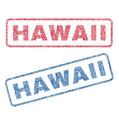 hawaii textile stamps vector image vector image