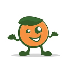 Orange Character vector image vector image