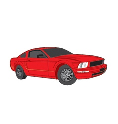 RedCar vector image vector image