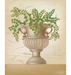 antique amphora vector image