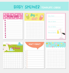 baby shower party templates child card vector image