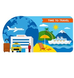 banner for travel and resort vector image vector image