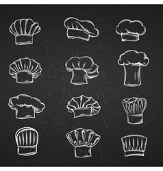 Chef caps hats and toques icons vector image vector image