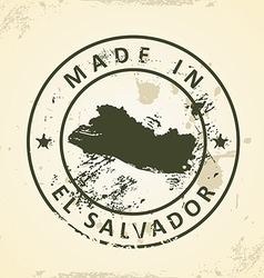 Stamp with map of El Salvador vector image vector image