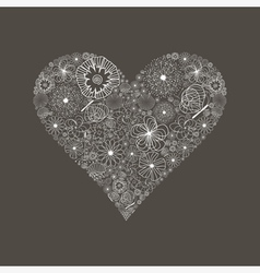 Wedding heart6 vector image vector image