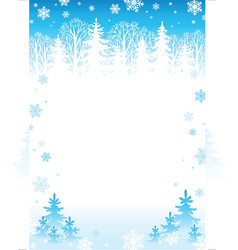 winter forest background vector image vector image