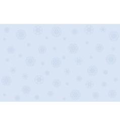 Christmas with snowflakes vector image vector image