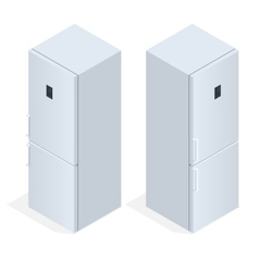 Fridge door with handle Flat 3d isometric vector image