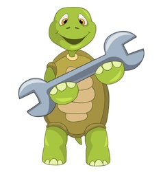 Funny Turtle Support vector image vector image