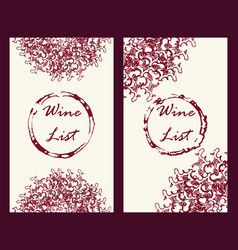 wine business cards set vector image vector image