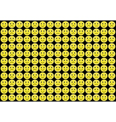 Yellow smiles background vector image