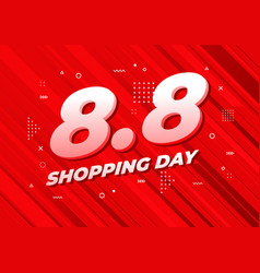 8 august shopping day sale poster vector image
