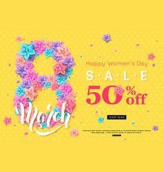 8 march sale banner design for online shopping vector image