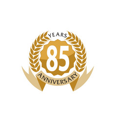 85 years ribbon anniversary vector