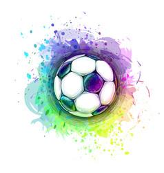 Abstract soccer ball vector