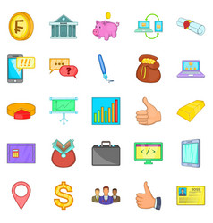 Accountancy icons set cartoon style vector