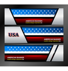 American Flag Color Banner Backgrounds vector