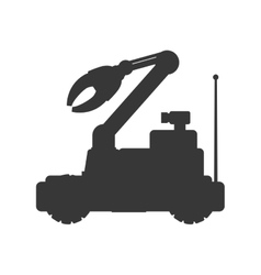 Arm car robot technology android icon vector