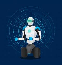 Artificial intelligence modern technology robot vector
