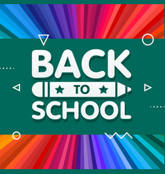 back to school banner design with 3d title and vector image
