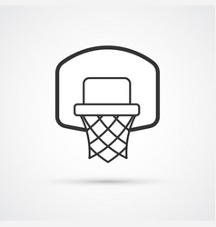 Basketball basket black icon eps10 vector