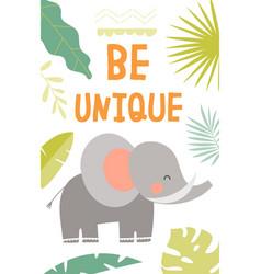 be unique motivational poster design vector image