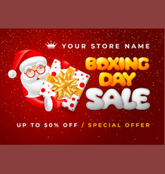 boxing day sale advertising banner vector image