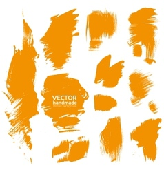 Brush orange paint texture vector