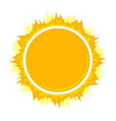 Burning round frame vector