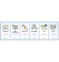 Business community innovation management faq vector