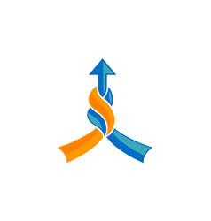Business growth arrow vector
