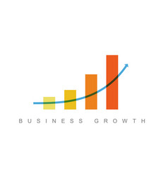 business growth concept flyer template vector image