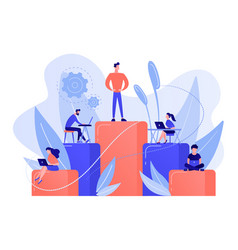Business hierarchy concept vector