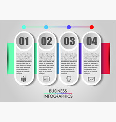 business infographics concept template is 4 option vector image