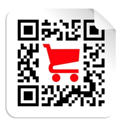 Buy label sign QR code vector image