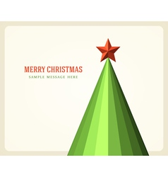 Christmas tree and star background vector image