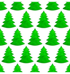 Christmas watercolor tree pattern vector image
