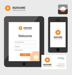 company mobile and tablet sign in screen design vector image