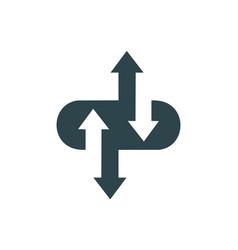 computing data arrow logo icon vector image