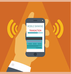 Concept of mobile payment on smartphone vector