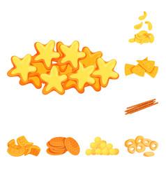 Design food and crunchy logo set of vector