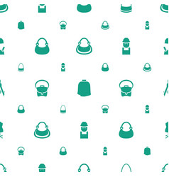 Designer icons pattern seamless white background vector