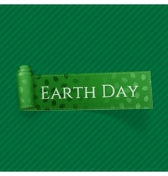 Earth Day realistic curved festive Ribbon vector