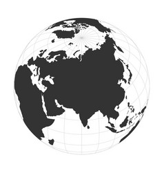 earth globe focused on asia continent vector image