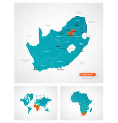 editable template map south africa vector image