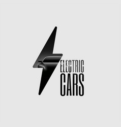 Electric car flyer banner vector