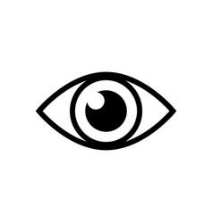 eye sign icon vector image
